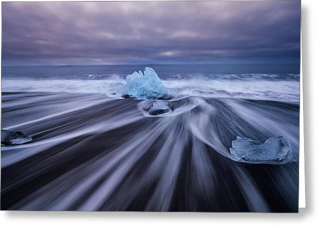 Iceberg Greeting Cards - Paradise Greeting Card by David Martin Castan