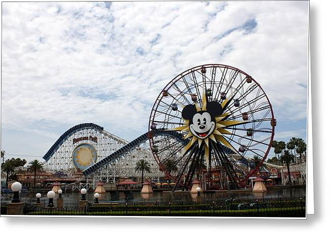 Mickeys Fun Wheel Greeting Cards - Paradise Greeting Card by David Nicholls