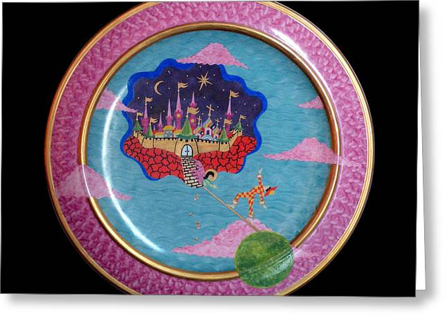 Sky Ceramics Greeting Cards - Paradise under the sky. Greeting Card by Vladimir Shipelyov