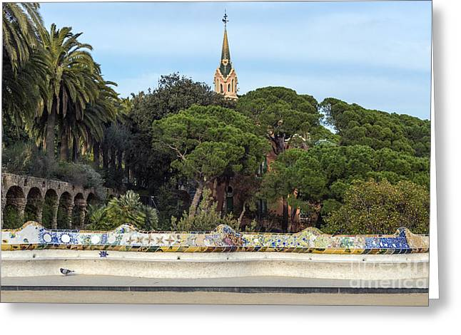 Park Guell Greeting Card by Svetlana Sewell