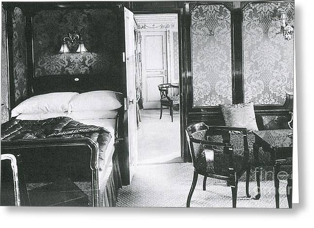First Class Greeting Cards - Parlour Suite Of Titanic Ship Greeting Card by Photo Researchers