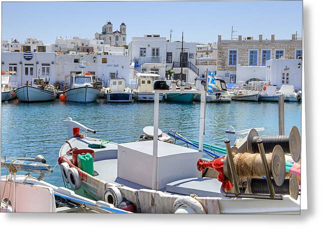 Fishing Village Greeting Cards - Paros - Cyclades - Greece Greeting Card by Joana Kruse