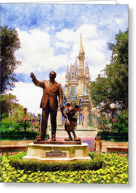Walt Disney World Greeting Cards - Partners Greeting Card by Sandy MacGowan