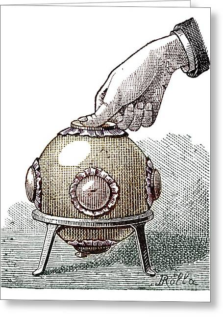 Experiment Greeting Cards - Pascals Principle Demonstration, 1889 Greeting Card by Spl