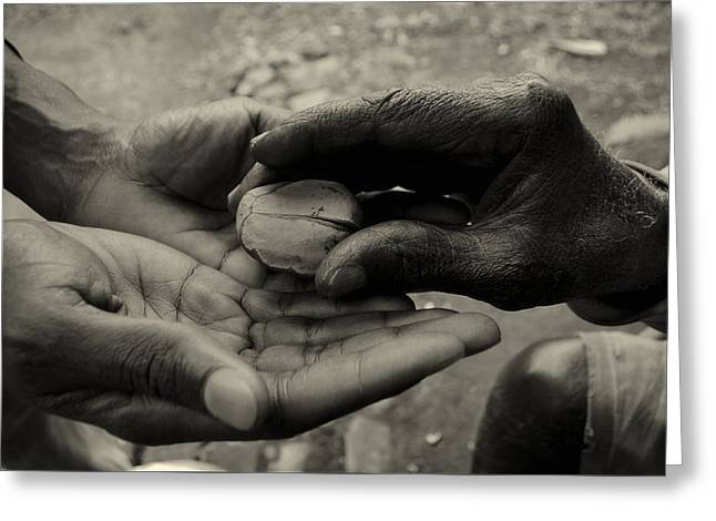 Working Hands Greeting Cards - Passing Of The Kola Nut - Africa Greeting Card by Manojilt Tamen