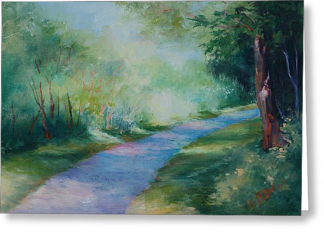 Path To The Pond Greeting Card by Donna Pierce-Clark