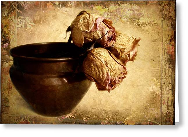 Planters Greeting Cards - Patina Greeting Card by Jessica Jenney