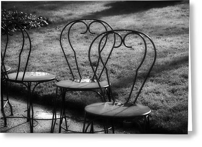 Lawn Chair Greeting Cards - Patio Chairs Greeting Card by Sara Babineau