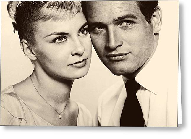 1950s Portraits Photographs Greeting Cards - Paul Newman and Joanne Woodward in the Long Hot Summer 1958 Greeting Card by 20th Century Fox