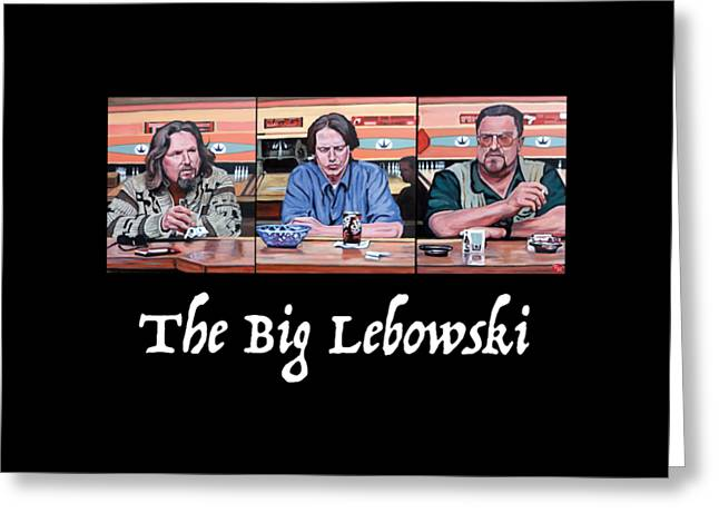 Lebowski Paintings Greeting Cards - Pause for Reflection Greeting Card by Tom Roderick