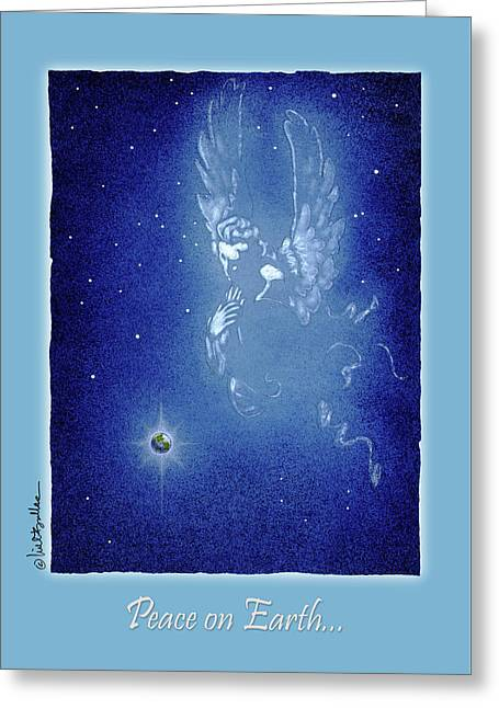 Peace On Earth... Greeting Card by Will Bullas