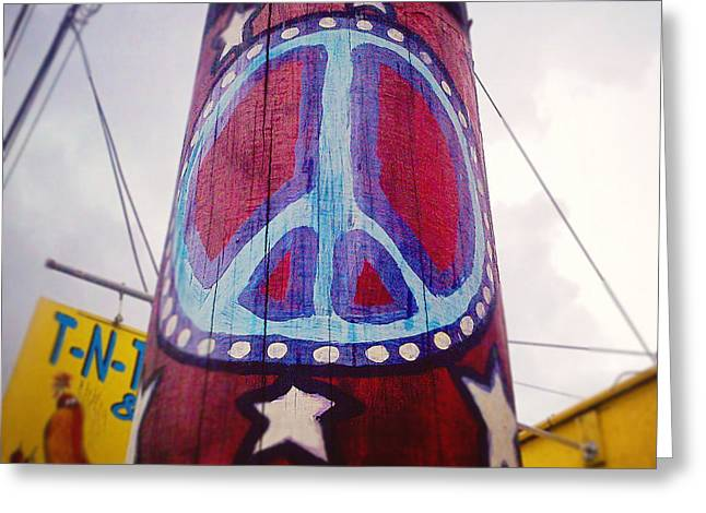 Peace Square Format Greeting Cards - Peace Pole Greeting Card by Scott Pellegrin
