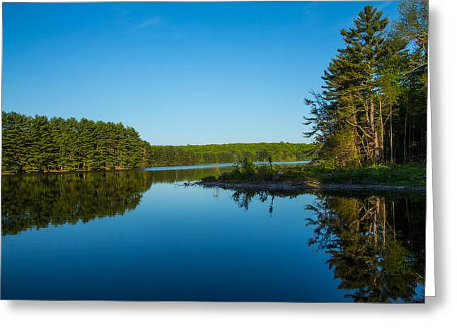 New Greeting Cards - Peaceful Blue Greeting Card by Karol  Livote