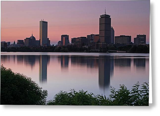 Charles River Greeting Cards - Peaceful Boston Greeting Card by Juergen Roth