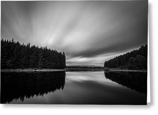 Long Exposure Greeting Cards - Peaceful Evening At Entwistle Lake In Bolton UK. Greeting Card by Daniel Kay