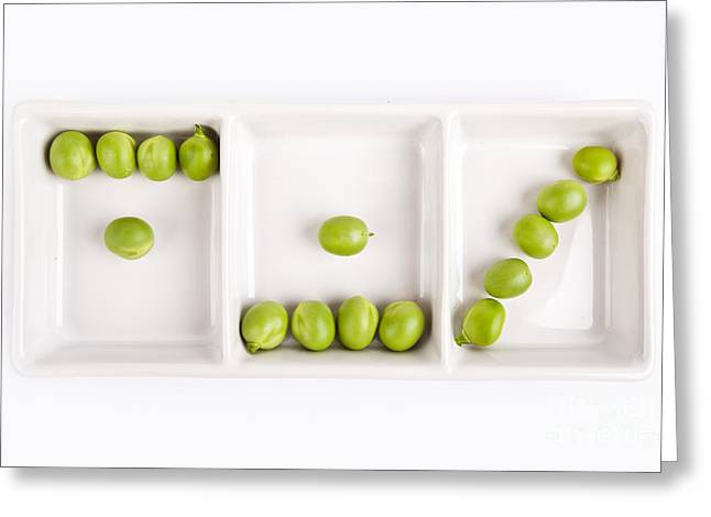 Raw Greeting Cards - Peas Greeting Card by Nailia Schwarz