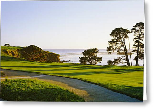Monterey Greeting Cards - Pebble Beach Golf Course, Pebble Beach Greeting Card by Panoramic Images
