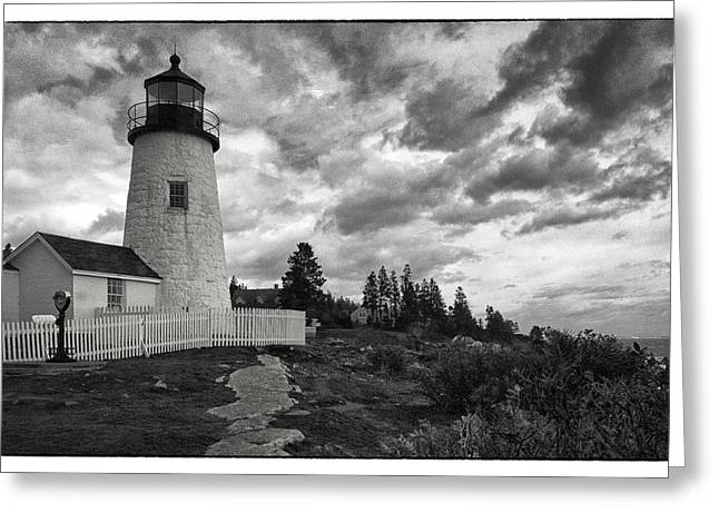 Maine Lighthouses Greeting Cards - Pemaquid Light Greeting Card by Robert Fawcett