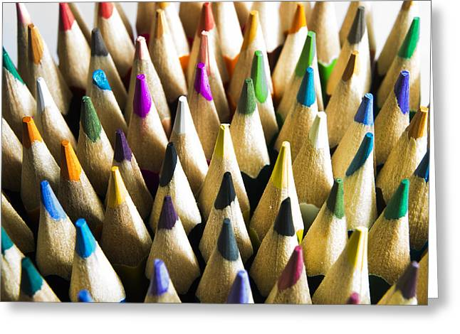 Multi-color Greeting Cards - Pencils Greeting Card by Bernard Jaubert