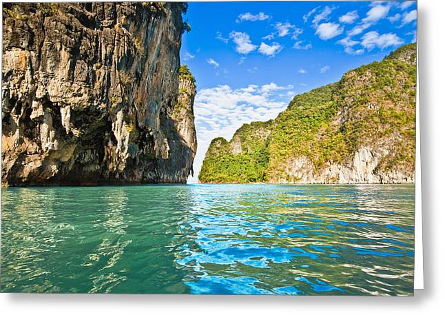Ahead Greeting Cards - Phang Nga Bay Greeting Card by Bill Brennan - Printscapes