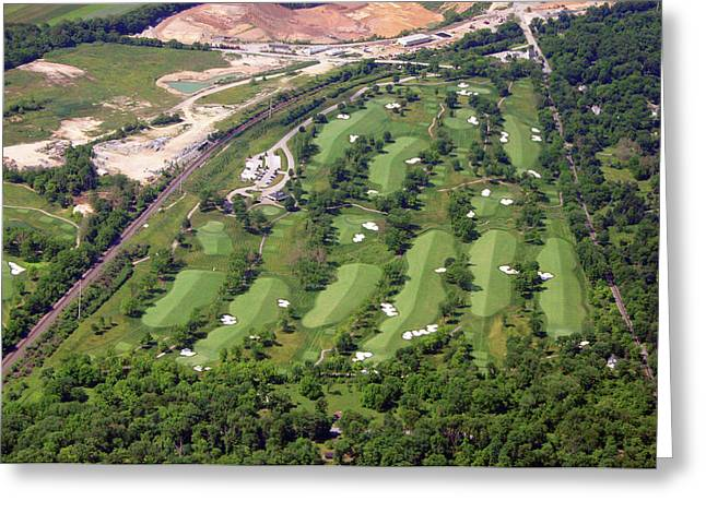 6075 W Valley Green Rd Greeting Cards - Philadelphia Cricket Club Militia Hill Golf Course 14th Hole Greeting Card by Duncan Pearson