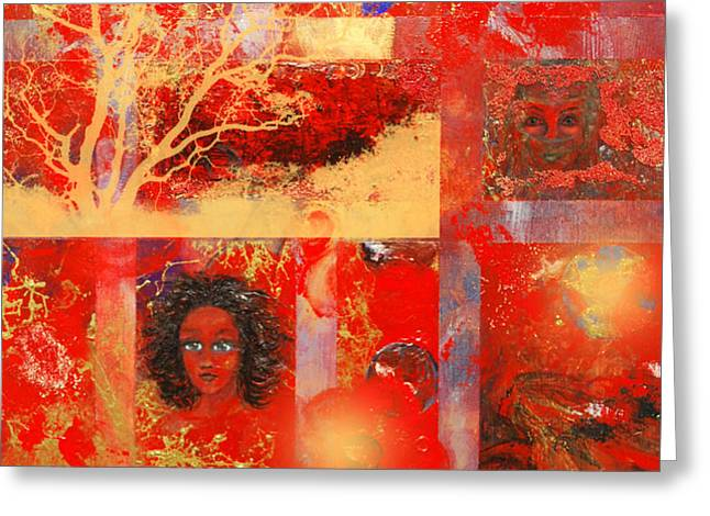 Pieces Greeting Card by Patricia Motley