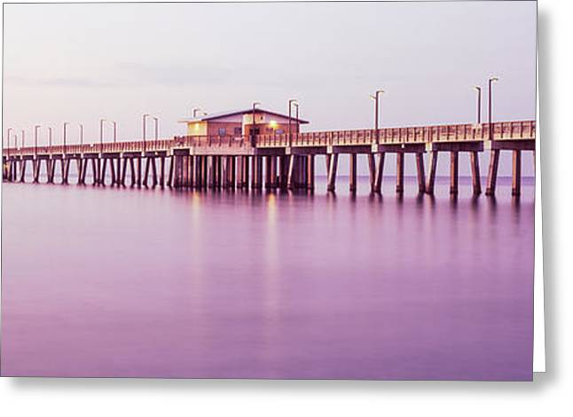 Pier In The Sea, Gulf State Park Pier Greeting Card by Panoramic Images