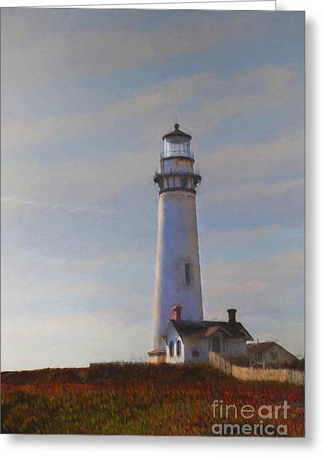 Pigeon Point Lighthouse Greeting Cards - Pigeon Point Lighthouse Greeting Card by Elena Nosyreva