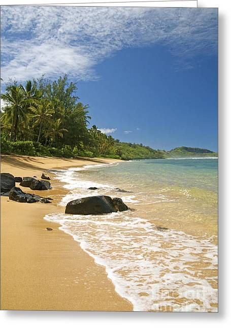 Offshore Rocks Greeting Cards - Pilaa Beach Greeting Card by Kicka Witte - Printscapes