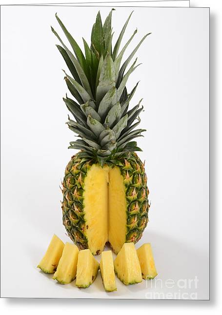 Nutritional Greeting Cards - Pineapple Greeting Card by Photo Researchers, Inc.