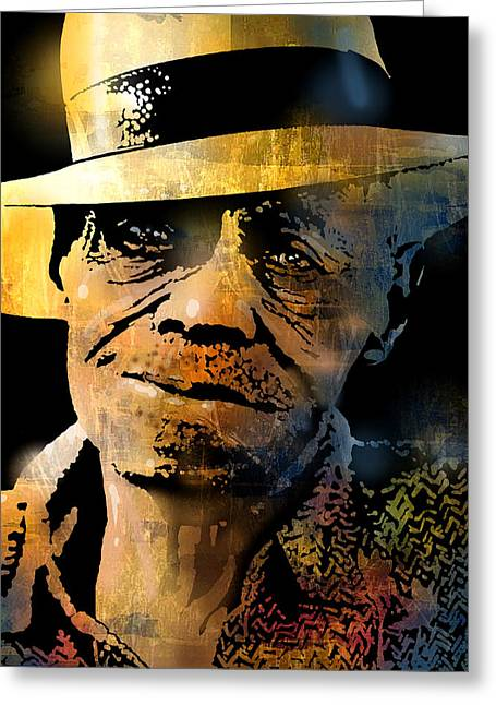 African-american Paintings Greeting Cards - Pinetop Perkins Greeting Card by Paul Sachtleben