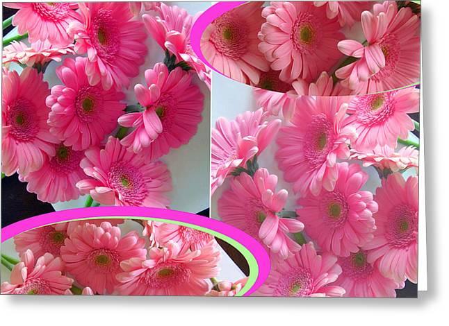 Geometric Digital Art Greeting Cards - Pinkies Greeting Card by Tina M Wenger