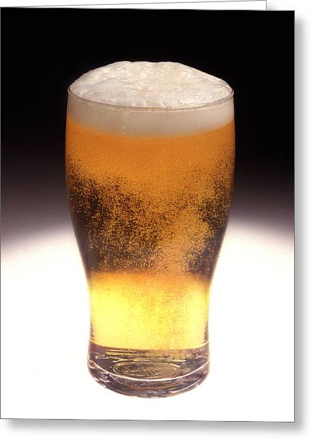 Fizzy Greeting Cards - Pint Of Beer Greeting Card by Victor De Schwanberg