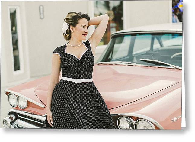 Stp Greeting Cards - Pinup Girl Sce Greeting Card by T S Sell