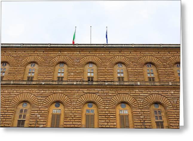 Pitti Palace, Florence Greeting Card by Davide Guidolin