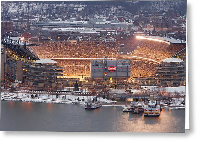 Steelers Greeting Cards - Pittsburgh 4 Greeting Card by Emmanuel Panagiotakis