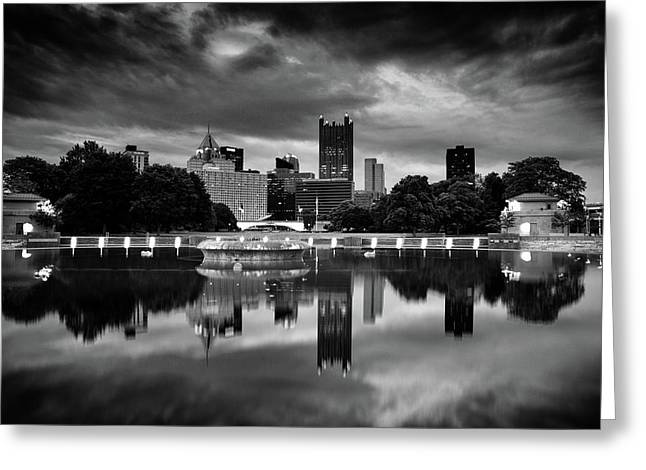 Pittsburgh  Reflections  Greeting Card by Emmanuel Panagiotakis