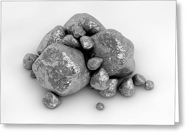 Treasury Greeting Cards - Platinum NUggets Greeting Card by Allan Swart