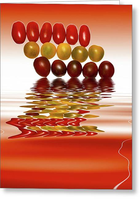 Plum Cherry Tomatoes Greeting Card by David French