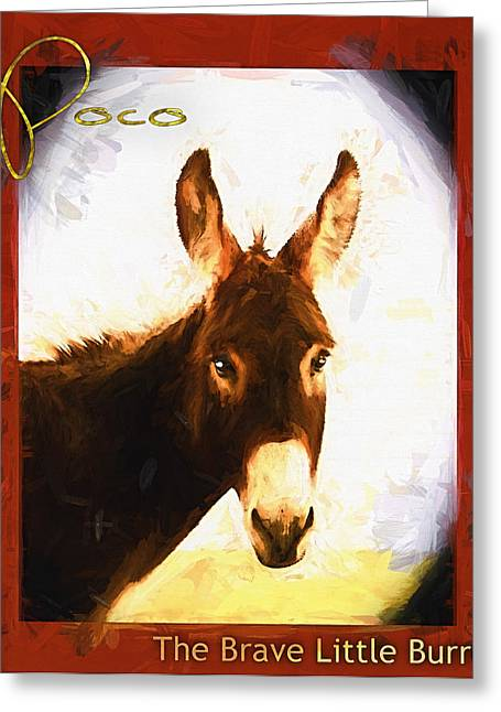 Shannon Story Greeting Cards - Poco The Brave Little Burro Greeting Card by Shannon Story