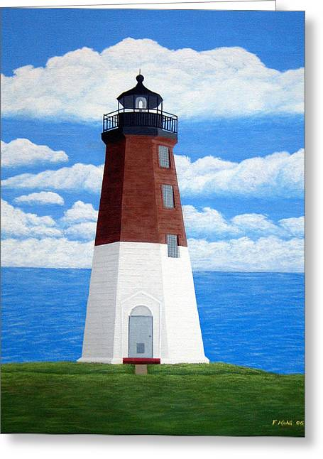 Lighthouse Greeting Cards - Point Judith Lighthouse Greeting Card by Frederic Kohli