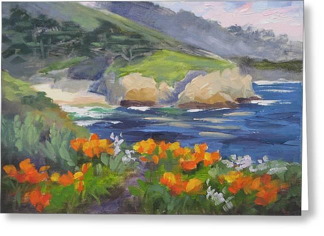 Point Lobos Spring Greeting Card by Karin Leonard