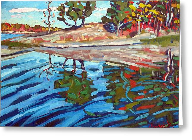 Canoe Greeting Cards - Point Paradise Greeting Card by Phil Chadwick