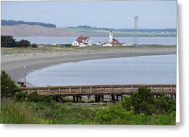 Townsends Inlet Greeting Cards - Fort Worden Point Wilson Lighthouse Greeting Card by Shirley Stevenson Wallis