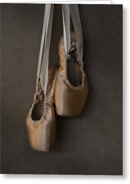 Sacred Pointe Shoes Greeting Card by Laura Fasulo