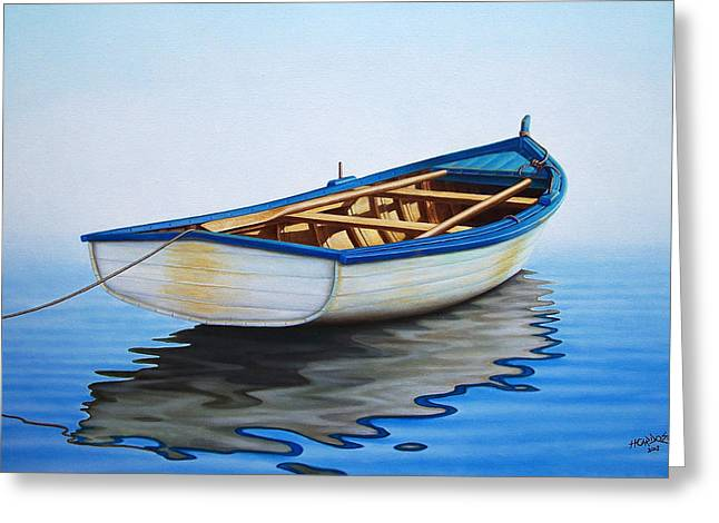 Fishing Boats Greeting Cards - Pointing Offshore Greeting Card by Horacio Cardozo