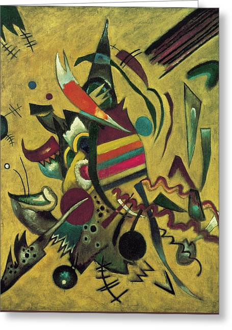 Points  Greeting Card by Wassily Kandinsky
