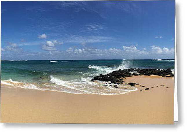 Ocean Panorama Greeting Cards - Poipu Beach Kauai Greeting Card by Steven Lapkin