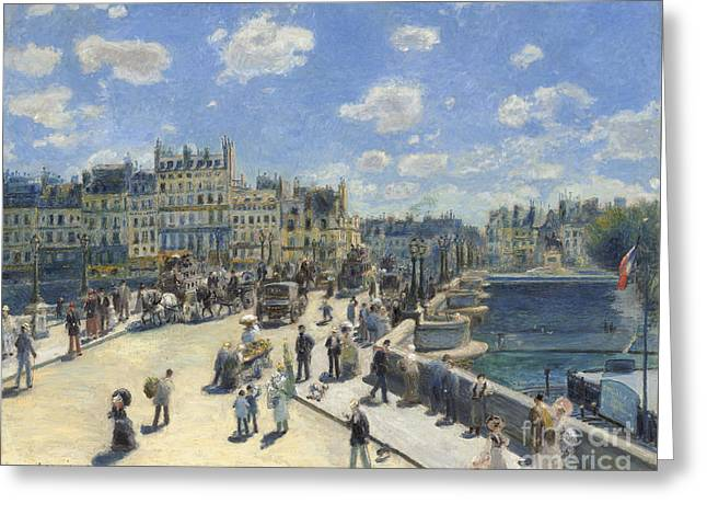 Pont Neuf  Paris Greeting Card by Pierre Auguste Renoir