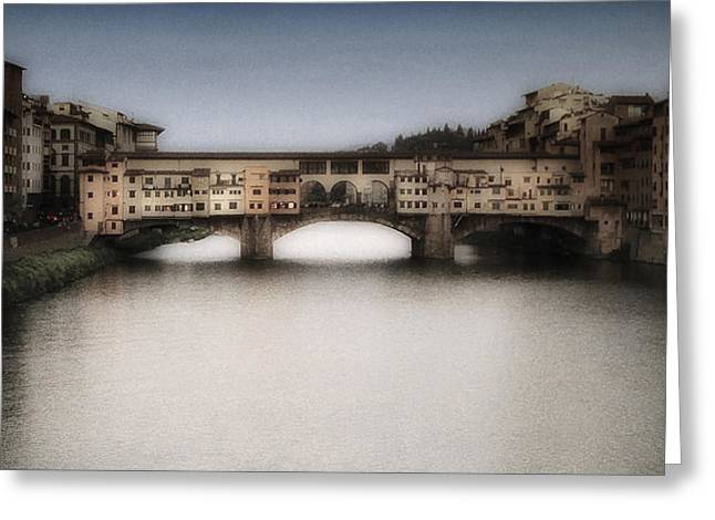 Arno Greeting Cards - Ponte Vecchio Greeting Card by Andrew Soundarajan